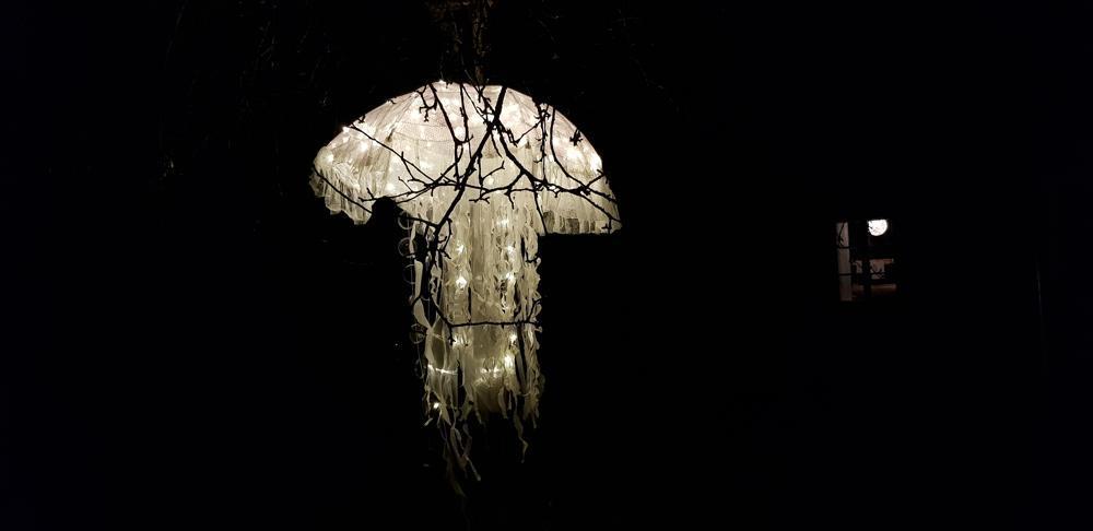 Ljuskonstverk, lysande manet