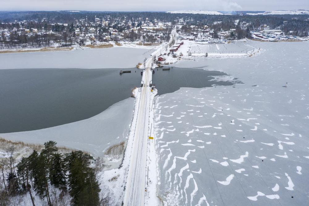 Dronekuva sillasta