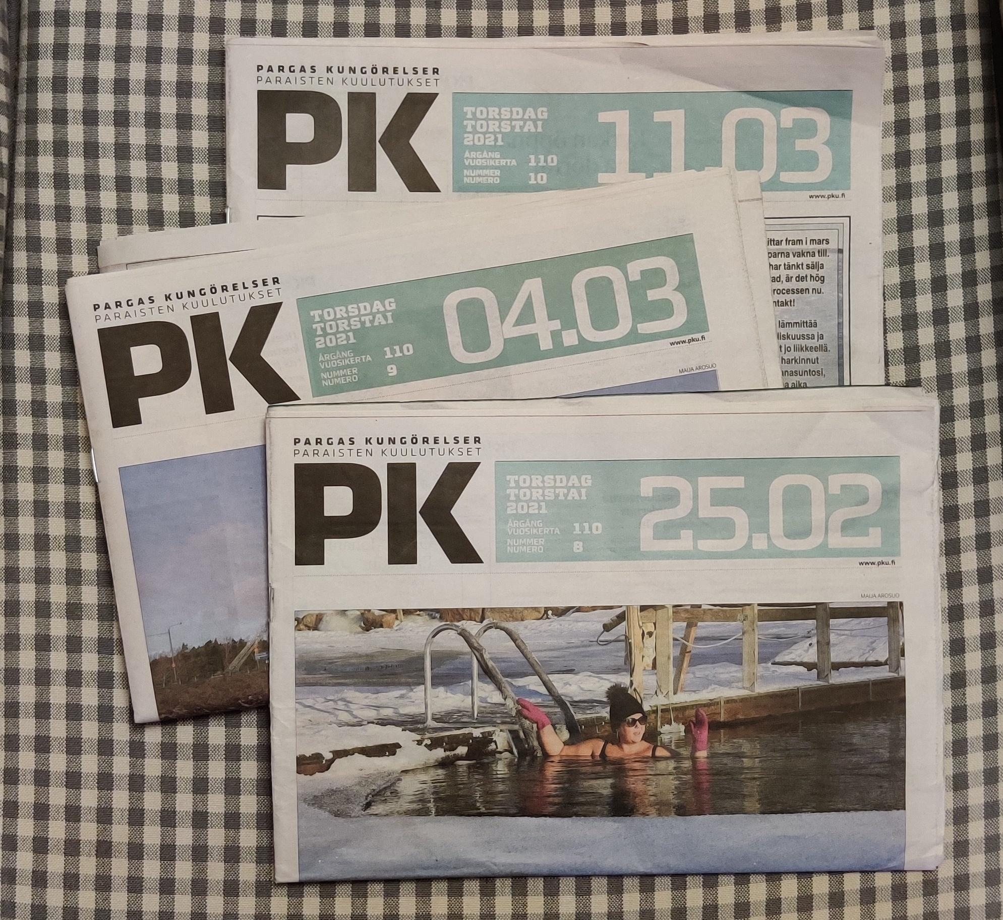 fotade tidningssidor